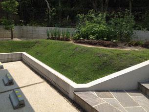 お庭の部分にはお客様が丹精こめて作られた菜園が出来ていました。収穫が楽しみですね!!