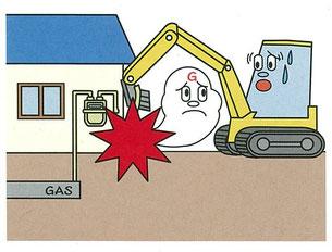 最近多発しているガス管損傷事例②