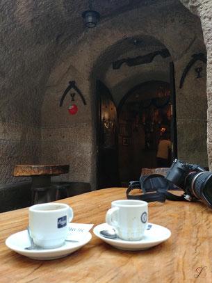 Etwas Espresso vor der Wanderung