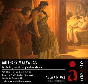 mujer; malvadas; literatura; arte; cursos; Palma de Mallorca;