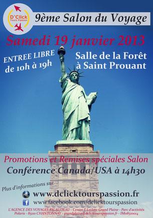 Notre Salon du Voyage 2013 - Affiche Saint Prouant