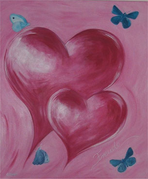 """bild"" Gertraud Ebner, Herzensfreude, rosa, Herz, Schmetterling, Meditation"