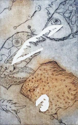 Fische VII - Radierung - 20x30 cm - 2015