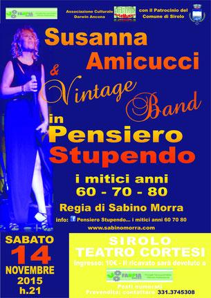 Manifesto del 14 Novembre 2015 presso il Teatro Cortesi di Sirolo (An)