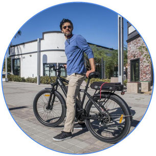 cycliste sur un vélo assistance électrique