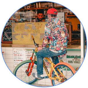 Vélo au restaurant