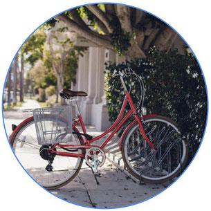 vélo pour femme rouge