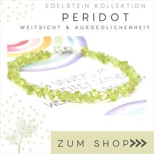 Peridot grünes Edelstein Armband und 925 Silber Verschluß