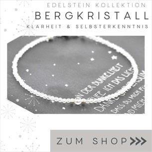 Bergkristall Edelstein Armband 2 mm