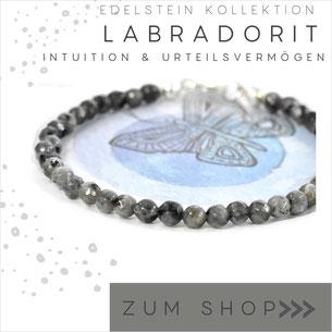 Labradorit  Edelstein Armband und 925 Silber Verschluß
