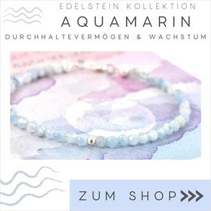 Aquamarin Armband mit blaßblauen Steinen & 925 Silber Verschluß