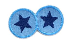 Bild: Jeansflicken Hosenflicken Stern blau Patch mini
