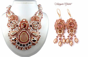 photo-paruure-baroque-brodee-doree-rose-cristal-swarovski-mariage-collier-boucles-d-oreilles