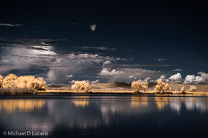Infrared photograph of the Great Salt Lake
