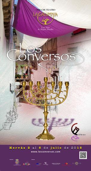 Cartel de Los Conversos 2015 en Hervás