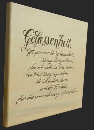Kalligraphie und Handlettering: Gelassenheitsgebet