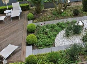 Flachdach Bewässerung Begrünung Dachgarten Bepflanzungen Terrasse