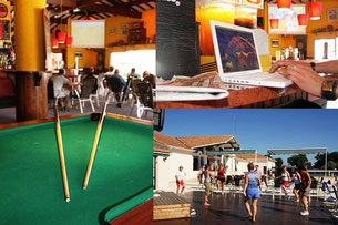 Bar et salle de jeux du camping les charmettes location mobilhome à la palmyre