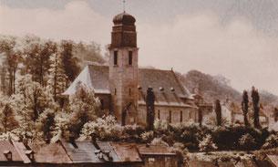dudweiler, saarbruecken, jaegersfreude, kirche, st. hubertus, 1928
