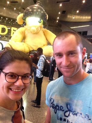 Escale à l'aéroport de Doha. Encore 17 heures de vol avant d'arriver à Auckland !