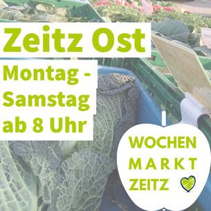 Mit nur einem Klick gibt es mehr Infos zum Wochenmarkt in Zeitz Ost.
