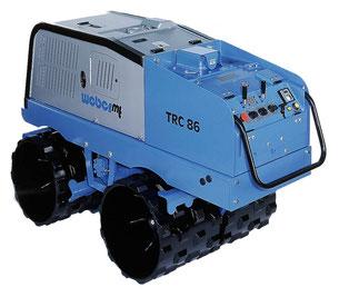 Grabenwalze, Weber, Weber TRC 66, Weber TRC 86, Untergrundverdichtung, Verdichtungsgeräte,
