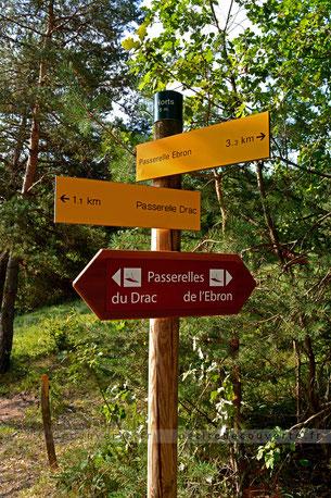 randonnée, passerelle du Drac, Lac de MonteynardAvignonet, isère