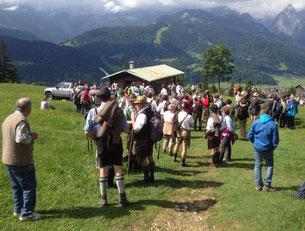 Internationale Schafalmbegehung 2014 in Garmisch-Partenkirchen