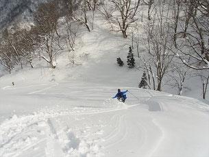 最後の一枚バーン,重い雪だが、ナイスV N村さん