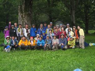 徳沢キャンプ場で「夏山だよ、全員集合!」