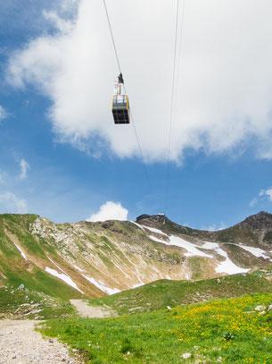 Alternative zum wandern, die Nebelhornbahn