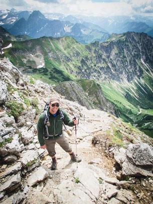 Der Gratweg auf das Nebelhorn