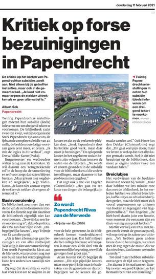 Artikel in het Algemeen Dagblad Drechtsteden