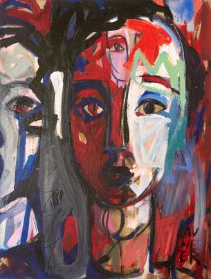 Obsession acrylique sur toile - Juillet 2019 - 115/46 cm