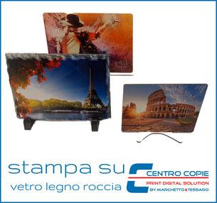 Centro Copie Bolzano-personalizzazione e stampa- su roccia vetro legno