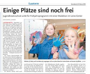 HAZ / Leine-Nachrichten v. 20.02.2010