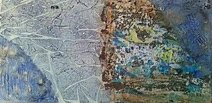 Tales of Mystery and Imagination V1 21017 (Acryl Mischtechnik Sumpfkalk, Strukturpaste, Pigmente, Kaffee) 40x80x4.....nicht mehr verfügbar