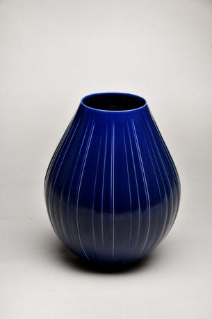 瑠璃釉壺 H35.4×D30