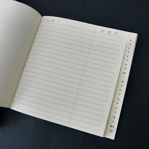 Adress-Buchblock