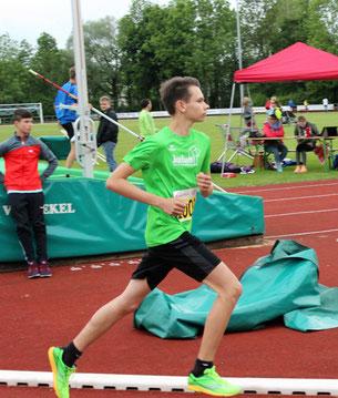 Jonas Sandner nach dem Start