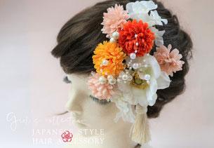 成人式、卒業式、和装の時に付けたいアネモネの髪飾りやヘアアクセサリー
