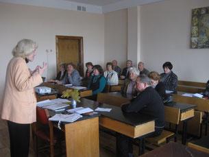Ведущая семинара психолог Складоновская Марина Григорьевна