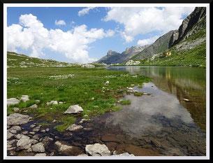 Lacs du Sabion (Mercantour) et della Vacca (Italie)
