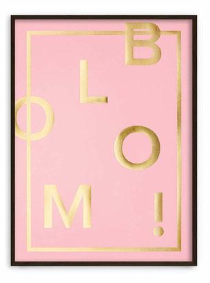 BLOOM! Candy pink -  Abstraktes Poster