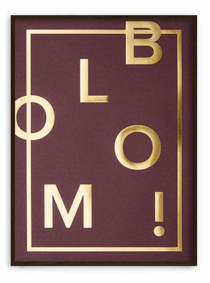 BLOOM! Claret - Abstraktes Poster