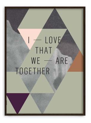 WE ARE TOGETHER - Abstraktes Poster