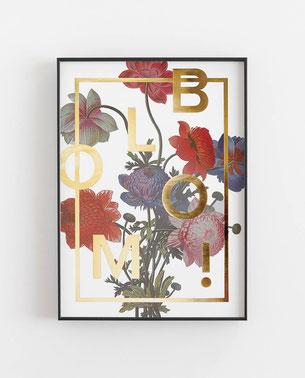 BLOOM! Gold - Abstraktes Poster