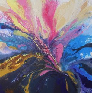Galamos Rita- zwischen den Dimensionen Akryl auf Leinwand  Dekorativmalerei Feldkirch  Malerin Vorarlberg Ungarische Designerin  Hungarian Painting