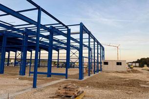 neue Dachkonstruktion des Eisstadions in Niesky