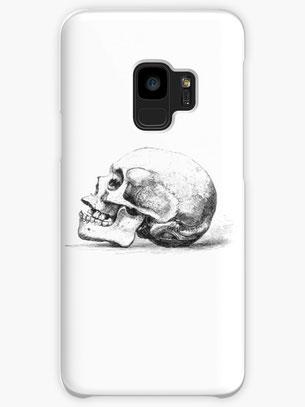 iphone, ipad, samsung mobil cover, Zeichnung Totenkopf seitlich Hüllen & Skins für Samsung Galaxy Totenkopf, skull, death's-head, Skelett, skeleton, carcass, head, Kopf, medizin, anatomie, anatomy, human, Menschenkopf, Mensch